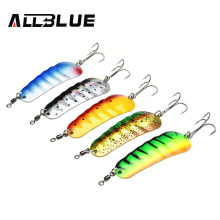Buy ALLBLUE New 5pcs/lot Metal Fishing Lure 21g Multi Colors Spoon Lure Hard Bait Spinner Bait Isca Artificial Peche Fishing Tackle for $7.99 in AliExpress store