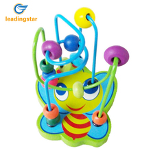 LeadingStar Children Development Toy Colorful Wooden Multi Track Bead Maze Game for Boys and Girls zk25(China)