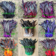 50 root sell dye rooster tail feather 30 - 35cm / 12 -14Inch DIY wedding celebration articles for use