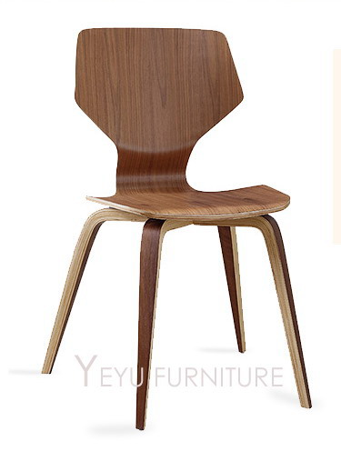 Classic Modern Design Creative Walnut Or Cherry Solid Wooden Dining Side  Chair Plywood Chairs Fashion Design Meeting Chair 1PC