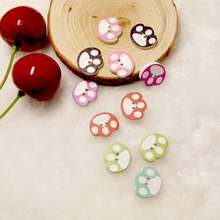 Free shipping 100pcs/lot Painted wooden buttons Children's clothing decorative buttons Cartoon fun dog handprint button