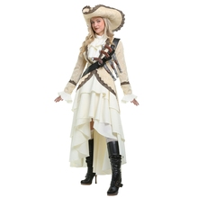 Captivating Pirate Women Noble Halloween Costume High-grade Adult Performance Cosplay Clothing(China)