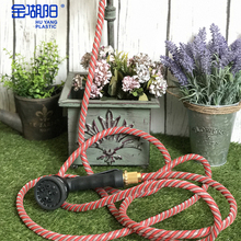 HU YANG PLASTIC Free Shipping New Arrival 50FT Red Nylon Garden Water Hose Pipe for Clean Bathroom\Car Washing\Water Flower