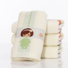1pcs 25*51cm Children Girl Heart Pattern jacquard Soft Face Towel Cotton Hair Hand Bathroom Towels Toallas Mano Gift 42034