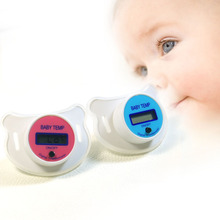 Baby Digital Nipple Thermometers LCD Medical Pacifier Mouth Temperature Silicone Children's Thermometer Health Double Use Safety(China)