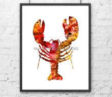 New kids children wall art abstract living room bedroom wall art decor crab lobster art sea ocean animal print painting picture