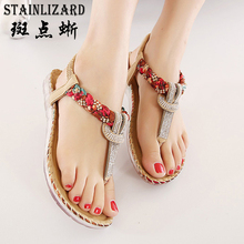 Women Sandals Bohemia Women Casual Shoes Sexy Beach Summer Girls Flip Flops Gladiator Fashion Cute Women Flats Sandals ABT538(China)