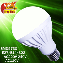 Wholesale Led Lamp E27 E14 3W 5W 7W 9W 12W Led Spotlight Lamps Lampara Bombilla Ampoule SMD5730 220V 110V Led Bulb