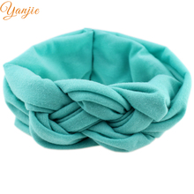4pcs/lot Hot-sale European Solid Colors Kids Girl Elastic Knot Tie Headband Chic Summer Hair Accessoris ForKids Headwrap Bandeau