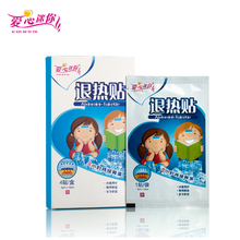Cooling Fever Patch 4 Pieces/Box Physical Temperature Failing Relief Headache Pain Cooling Gel Plaster for Children and Adult