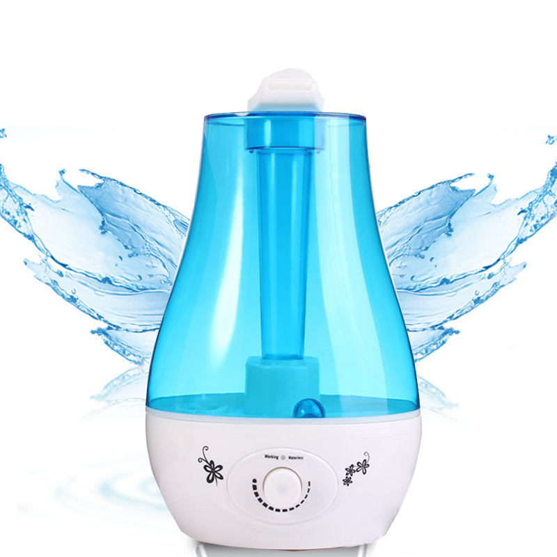 3.0L Ultrasonic Humidifier Tabletop Water Purifier LED Lamp Air Freshener Aroma Diffuser Two Mist Outlet  Mist Maker for Home<br>