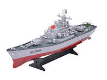 New RC Aircraft carrier HT-3826A remote control battleship Warship high speed Electronic Model toy remote control boat kids toy(China)