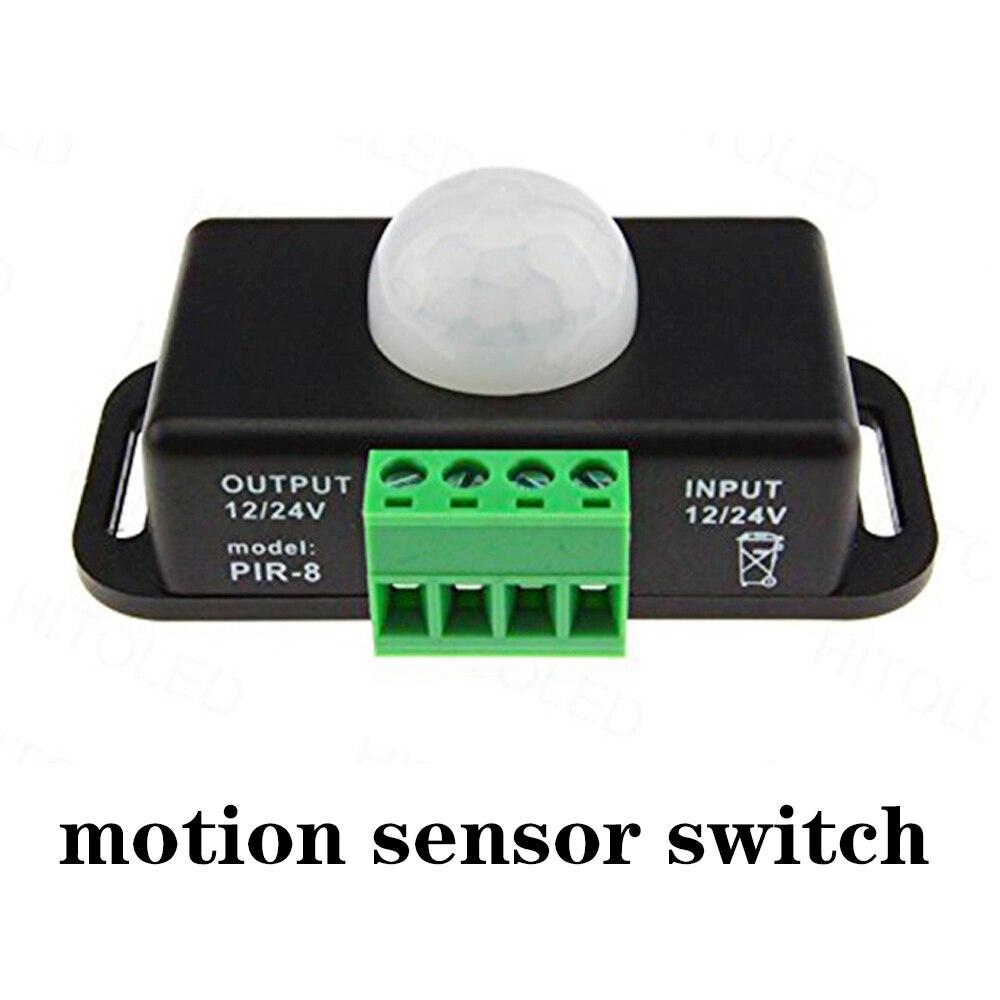 10 pcs/pack Motion Sensor PIR Sensor Switch DC12V 24V LED  Motion Timer Function Timer Control PIR Cotroller LED Strips Lighting<br>