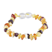 Certificate Baltic baby Teething Bracelet Genuine Ambar for Baby Wholesale 6 Colors 4cm Natural Ambar Stones(China)