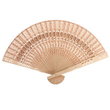 2017 New 1pc Bamboo Fans Original Vintage Folding Wooden Carved Hand Fan Wedding Birthday Party Gift Free Shipping