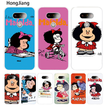 HongJiang Cartoon Mafalda Amazing case phone cover for LG G6 G5 K10 K7 K4 magna Spirit(China)