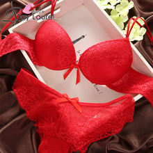 Sexy Underwear Women Lace Bra Set Lingerie Push Up Luxurious Embroidery Seamless Bra and Panty Set B C Cup [Chinese Size]