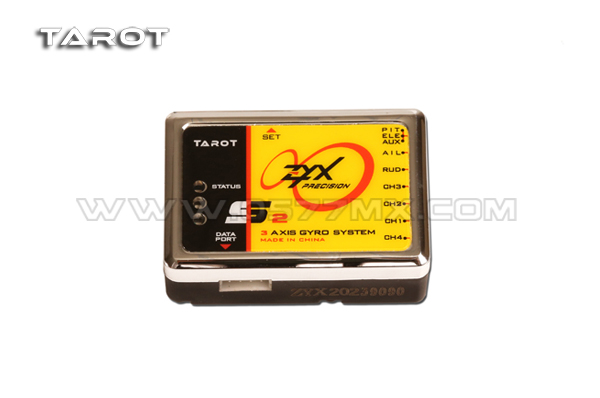 Tarot ZYX-S2 Flybarless 3-Axis Gyro System ZYX-S V2 ZYX23 For Trex 450 500 550 600 700 3G FBL RC Helicopter<br>