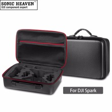 DJI Spark Drone Bag PU Shell Waterproof Storage Box Bag Carry Case handbag for DJI Spark Drone Accesssories(China)