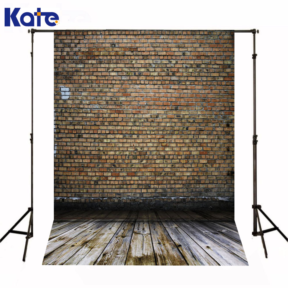 Kate Newborn Baby Backgrounds Photography Red Brick Wall Fond De Studio De Dark Wood Texture Floor Backdrops For Photo Shoot<br>