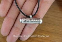 PN121 Nepalese Jewelry Tibetan Sterling Silver 925 Buddhism 6 Words Mantra Prayer Box Amulet Pendant Necklace
