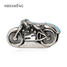 Original 925 Sterling Silver Antique Motorcycle DIY Bead Charms Fit Women Pandora Bracelets & Bangles Necklace Jewelry SS2458