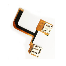 Original SD Card Socket + SIM Card Socke For HTC One Mini 2 / M8 Mini Cell Phone Flex Cable Replacement