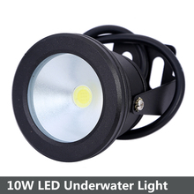 Wholesale 5pcs/lot 10W LED Underwater Light 12V Waterproof IP68 Fountain Pool Aquarium Lamp Black Body Cool White/Warm White(China)