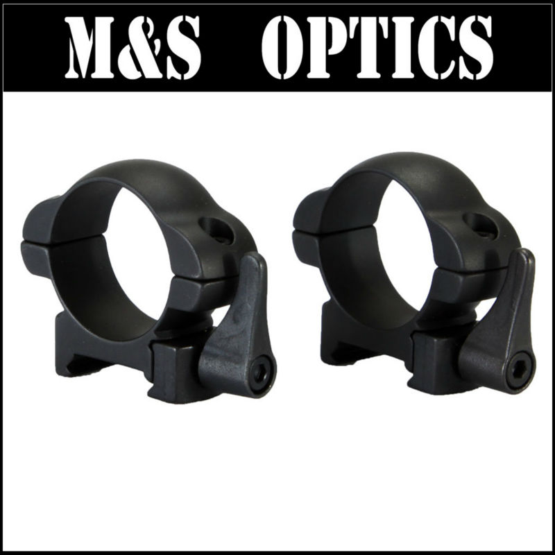 30mm Ring Low 20MM Mount in Y15 Steel with Lever-lok 4.5mm For Hunting Riflescopes<br>