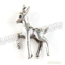 Promotion 90pcs/lot New Charms Deer Animal Alloy Antique Silver Plated Pendant Finding Fit Jewerly DIY 22*13*4mm 142666(China)