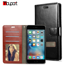 Thouport For Apple iPhone 5 Case iphone 5S Case Luxury Flip wallet Cover stand Photo frame Retro PU leather Case For iphone SE(China)
