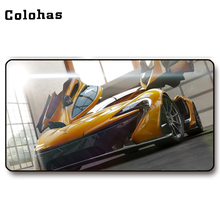 Colohas Cool Yellow Sport Car Pattern Gamer Mouse Mat Big Size Mice Pad Rubber + Cloth Locking Edge Gaming Mouse Pad(China)