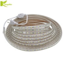 1M~ 25M SMD 5050 AC 220V Led Strip Tape Waterproof Flexible Bar Light 60 Led/M With EU Plug Outdoor Garden Party Decoration