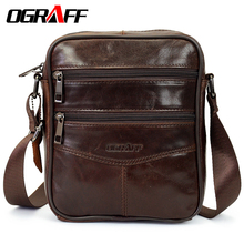 OGRAFF Men Bag Small Shoulder Bags Handbags Genuine Leather Bags Men Messenger Cross Body Office Bags For Male Luxury Designer