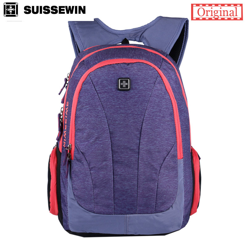 Hot Sale Swisswin Backcpack for Teenage Girls Fashion Brand Backpack 15,6 Laptop Backpack Back To School Bag mochilas feminina<br>
