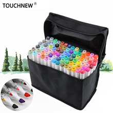 TOUCHNEW FineColors 30/40/60/80 Colors Artist Dual Headed Marker Set Manga Design School Drawing Sketch Markers Pen Art Supplies