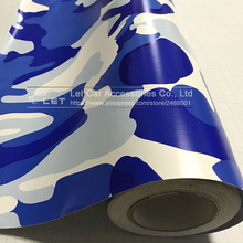 Navy blue Camo Vinyl Wrap Car Motorcycle Decal Mirror Phone Laptop DIY Styling Camouflage Sticker Film Sheet(China)