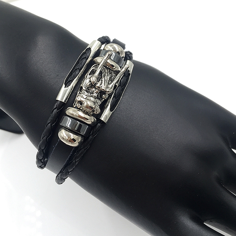 Multilayer Tibetan Dragon Leather Bracelet
