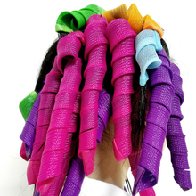 18 Pcs/set Magic Hair Curlers Styling Rollers Perm Curls Spirals Styling Tool DIY fashion color Hair Hooks Magic Rollers Kit(China)