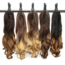 "Neverland 20"" 50CM Wavy Ponytail Colorful Ombre Synthetic Claw Pony Tail Fake Clip in Hair Extension Natural Women's Hairpiece"
