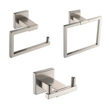 KES LA242-31 Bathroom Accessories Tissue Holder/Double Hook/Towel Ring SUS304 Stainless Steel Wall Mount, Brushed Finish(China)