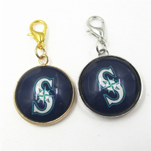 20pcs Seattle Mariners Baseball Team Sports Dangle Charms Pendants DIY Jewelry lobster clasp MLB Floating Hanging Charms
