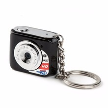 Free Shipping World's Smallest MINI DV Metal Keychain Exquisite 480p HD Digital Mini Camara Support Microsd TF Card