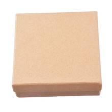 LASPERAL Simple Design Kraft Paper Jewelry Packaging Gifts Boxes Fit Wedding Favors Gifts Bag Box Party Supplies 9.5x9.5x3.5cm
