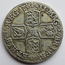 1711 SHILLING - ANNE BRITISH SILVER COIN High quality