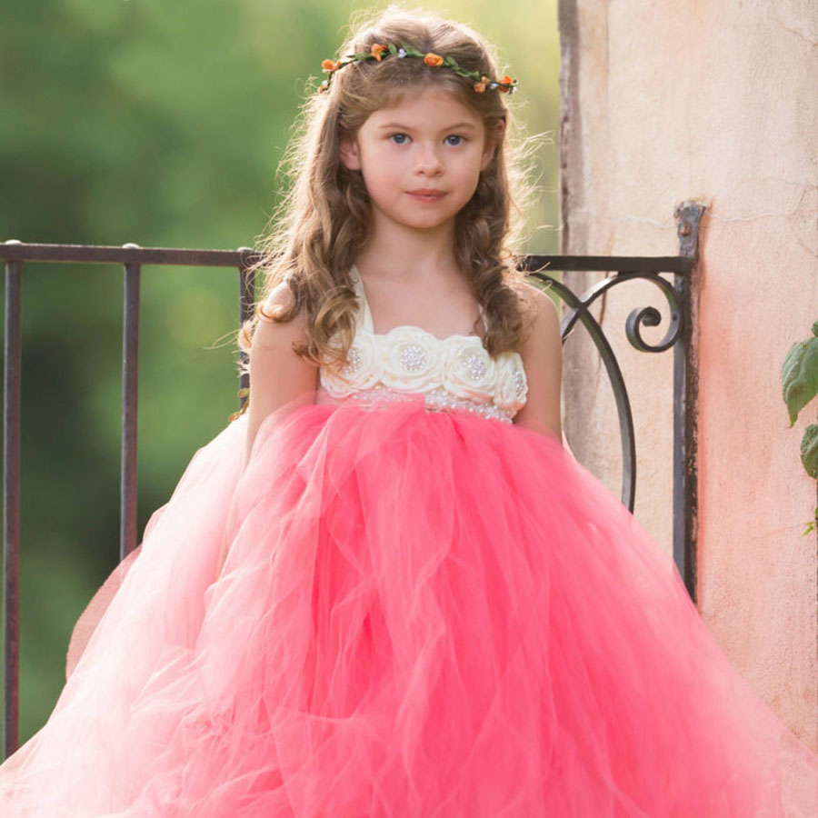 Flower Baby Girl Tutu Dress Handmade Girls Tulle Tutu Dress for Pageant Wedding Birthday Photo Clothes TS074<br><br>Aliexpress