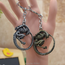 wholesale Aliens vs Predator Keychain Full Metal Pendant Key Chains Key Accessories Collection Toys KC016 FSX1