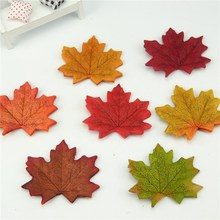 100Pcs/lot Artificial Silk Maple Leaves Multicolor Fake Flower Leaf For Scrapbooking Wedding Party Decoration Scrapbooking Craft