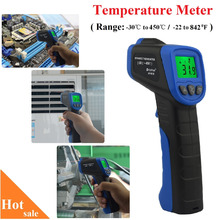 Free Shipping -30~450'C / -22~842'F HoldPeak HP-981B Temperature Meter Gun Non-Contact IR Infrared Digital Thermometer(China)
