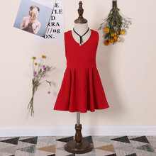 Girl sun dresses 2017 summer children dress Backless Bow Princess dress cute vest baby dress girls dresses for party and wedding